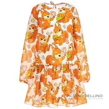 "Платье ""Белки"" шифон - фото 4887"