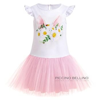 Платье трикотажное с фатиновой юбкой арт 03110 - фото 5513