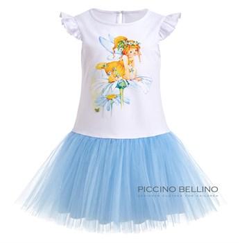 Платье трикотажное с фатиновой юбкой арт 03109 - фото 5523
