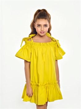 Платье хлопковое жёлтое арт.0398 - фото 5664