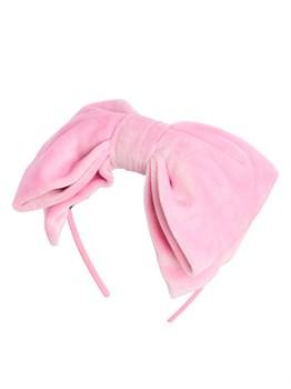 Ободок декоративный для волос розовый - фото 6274