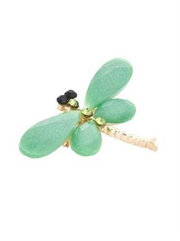 Брошь стрекоза зеленая - фото 6509