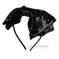 Ободок декоративный черный